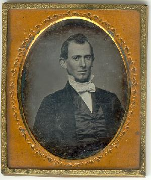 A tintype of Robert Christie at age 22