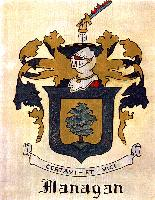 This Flanagan Coat of Arms was painted by Virginia Terpening in 1956.